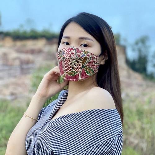 Batik print 3D cloth masks  KF 94 shape-like mask