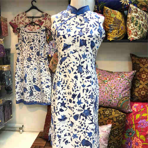 Batik dress ( Mandarin collar )