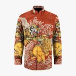 Hand woven silk, hand drawn batik shirt