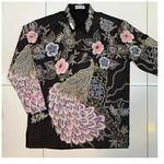 Hand Drawn Batik Long Sleeve Shirt XXL size
