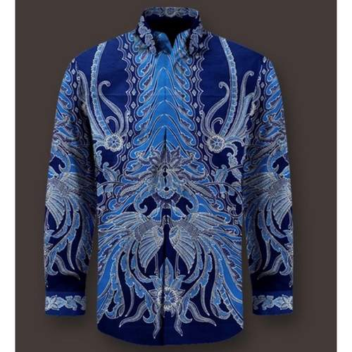 hand drawn batik shirt ( 100% cotton )