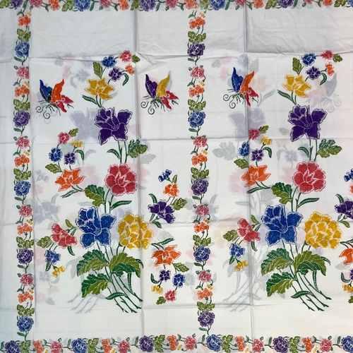 Hand stamped batik fabrics