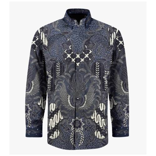 Hand Drawn Batik Long Sleeve Shirt L size