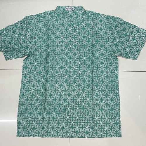Batik print / Batik Cap short sleeve shirts ( L size )