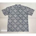 Mandarin Collar Hand Stamped Batik Shirt