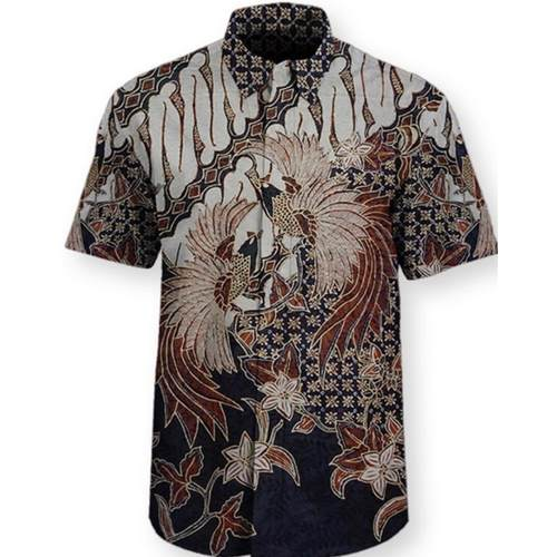 hand drawn batik shirt ( hand woven silk )
