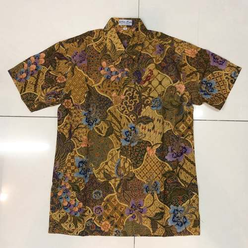 Batik print short sleeve shirts  L size