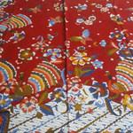 Batik fabric, hand drawn