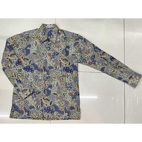 Batik print long sleeve shirt ( XL size )