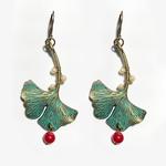 Earrings - Ginko Leaf