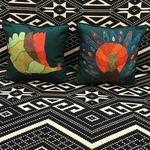 Art Cushion Cover 12 x 12 Gond Peacock