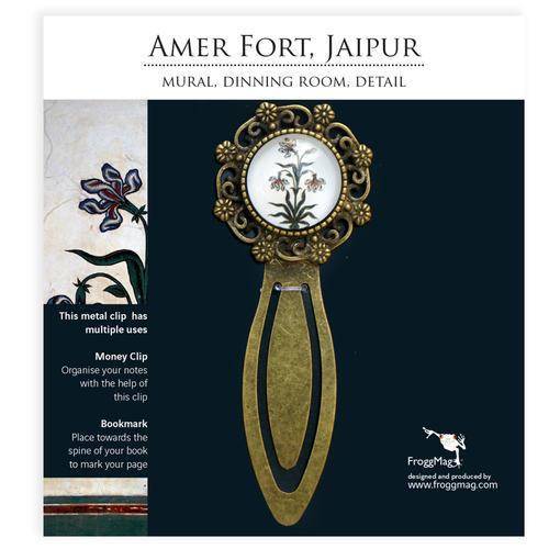 Metallic Bookmark - Mural - Amer Fort