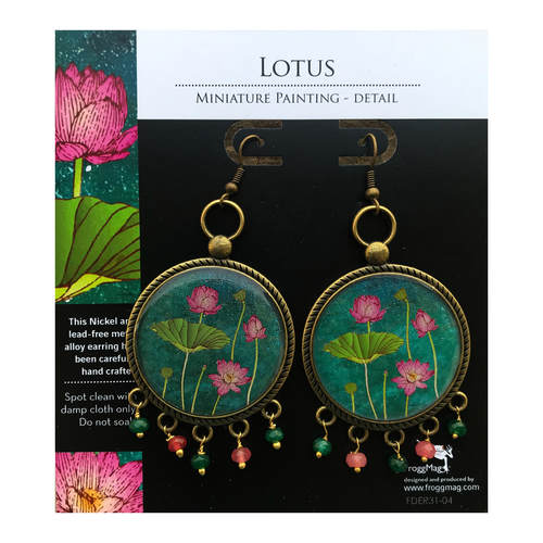 32 mm Metal Alloy with semiprecious stones - Lotus