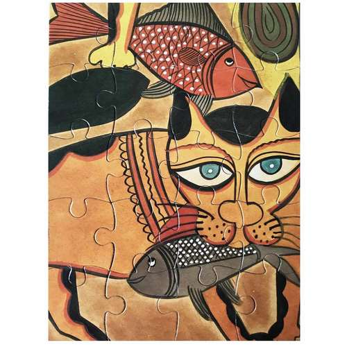 JIGSAW PUZZLE 20 PC - Kalighat Pat from Bengal
