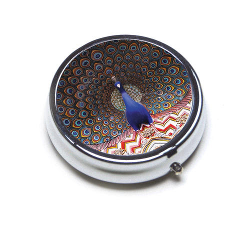 PILL BOX ROUND - Peacock