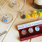 WINE GLASS CHARMS - STAINED GLASS - CST MUMBAI