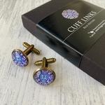 Cufflinks - Blue Pottery