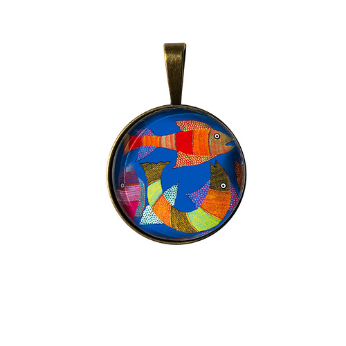 Art Pendant - Gond Fish