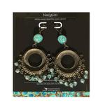 Earrings with hand painted beads - Naqashi