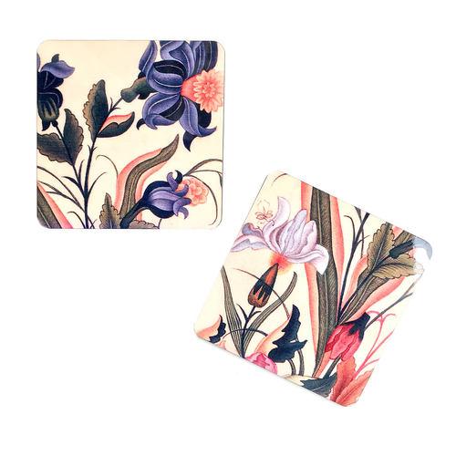 COASTERS _ SET OF 2 - Mughal Flowers