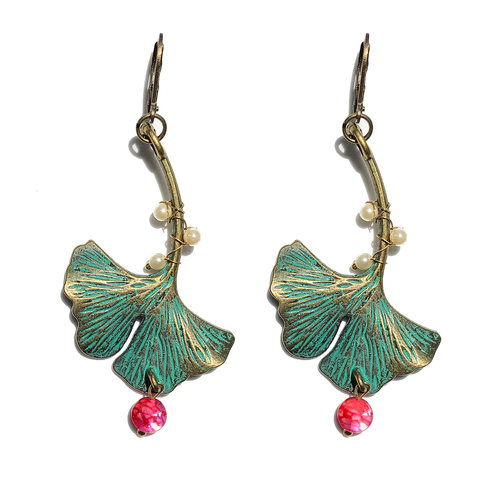Earrings - Ginko Leaf