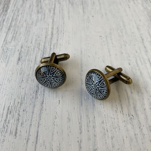 Cuff Links - Hand Carved Block