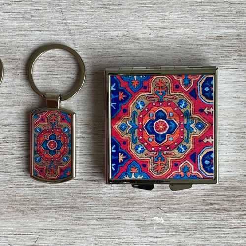 AARI CARPET - PILL BOX and KEYRING - Gift Pack