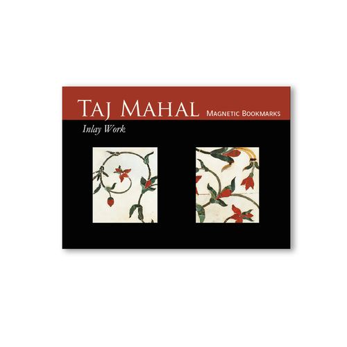 BOOK MARKS SET OF 2 - Taj Mahal Inlay work - Red