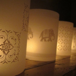 TEA LIGHT COVERS - White textile