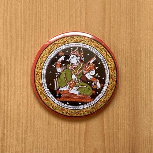 FRIDGE MAGNETS ROUND - Saraswati Patachitra