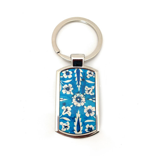 KEY RING - Jaipur blue