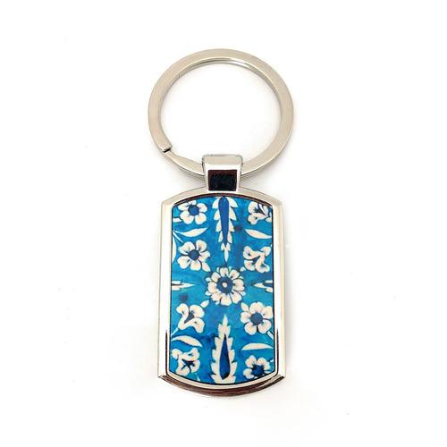KEY RING - Jaipur blue