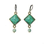 Hanging Earrings with Bead - Naqashi - Kashmir