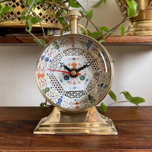TABLE CLOCK - Pietra Dura