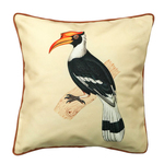 Art Cushion Cover 12 x 12 - Mughal Miniature - Hornbill
