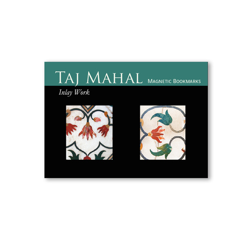 BOOK MARKS SET OF 2 - Taj Mahal Inlay work - Green