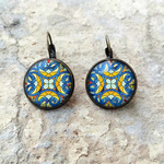 CLIP EARRINGS 18 MM - Stained Glass, CST Mumbai