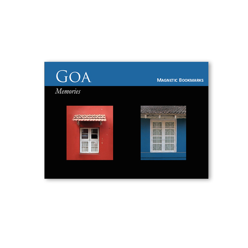 BOOK MARKS SET OF 2 - Goa Window Blue Red