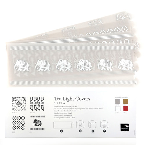 TEA LIGHT COVERS - Silver textile