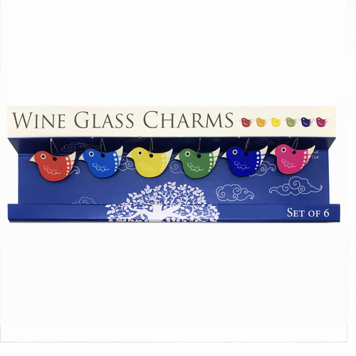 WINE GLASS CHARMS - Birds
