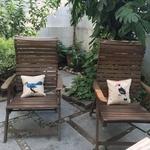 Art Cushion Cover 12 x 12 - Mughal Miniature - Hornbill