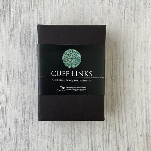 Cuff Links - Shirkha, Naqashi, Kashmir