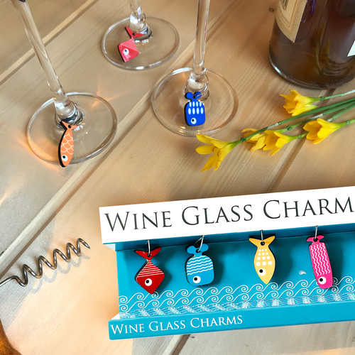 WINE GLASS CHARMS - FISH