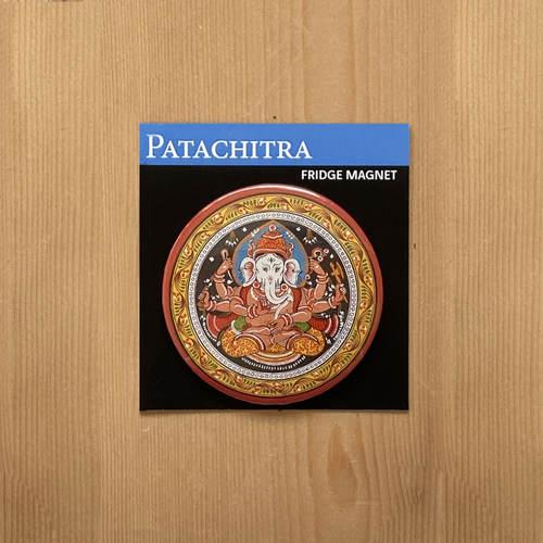 FRIDGE MAGNETS ROUND - Ganesh Patachitra