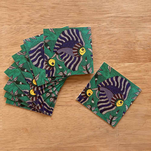Gift Tag Set of 10 - Madhubani