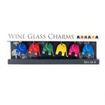 WINE GLASS CHARMS - ELEPHANTS