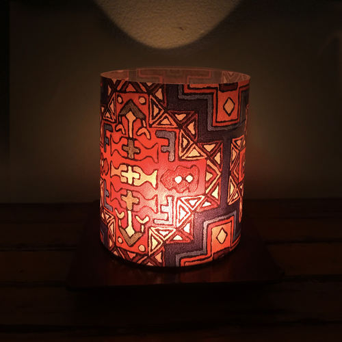 Tea- Light Lamp - Aari Carpet detail