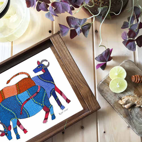 Tray - Gond Cows
