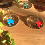 WINE GLASS CHARMS - Elephants
