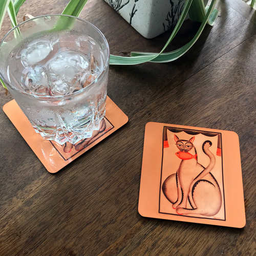COASTERS _ SET OF 2 - Kalighat Pat